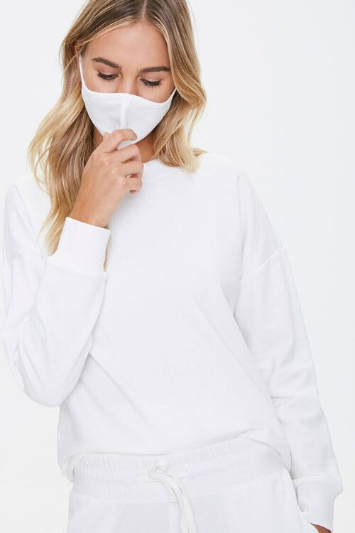 French Terry Sweatshirt & Face Mask Set, image 1