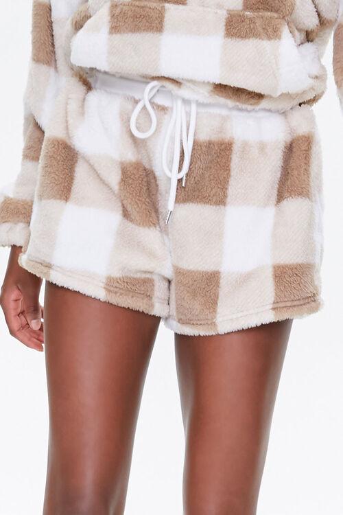 Plush Gingham Drawstring Shorts, image 2