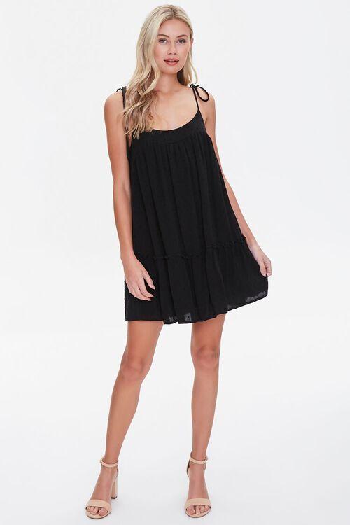 BLACK Flounce-Hem Mini Shift Dress, image 4