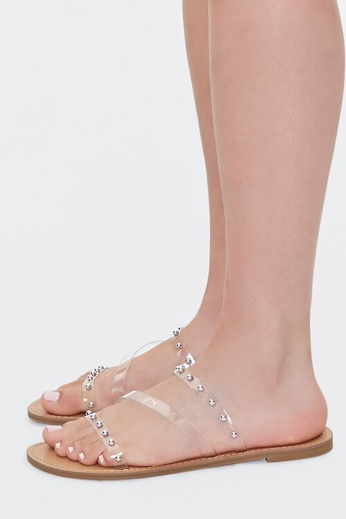 Transparent Ball Stud Flat Sandals, image 2