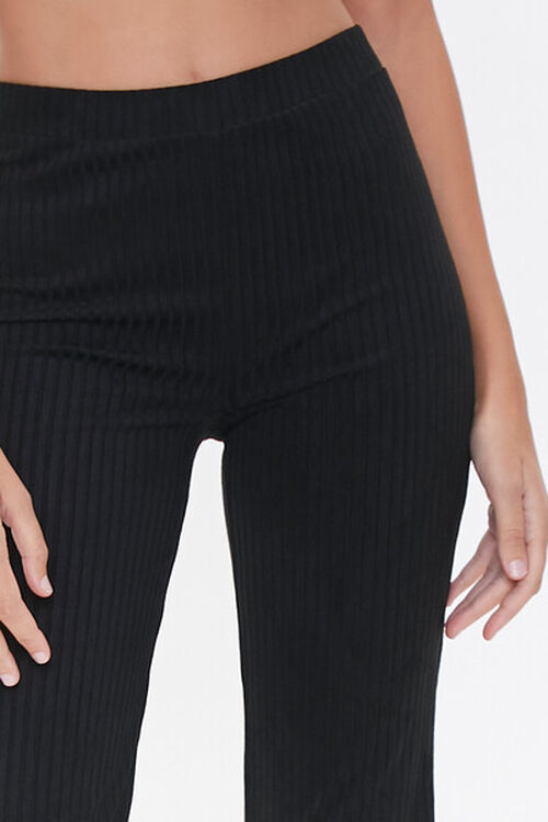 Ribbed Knit Flare Pants, image 5