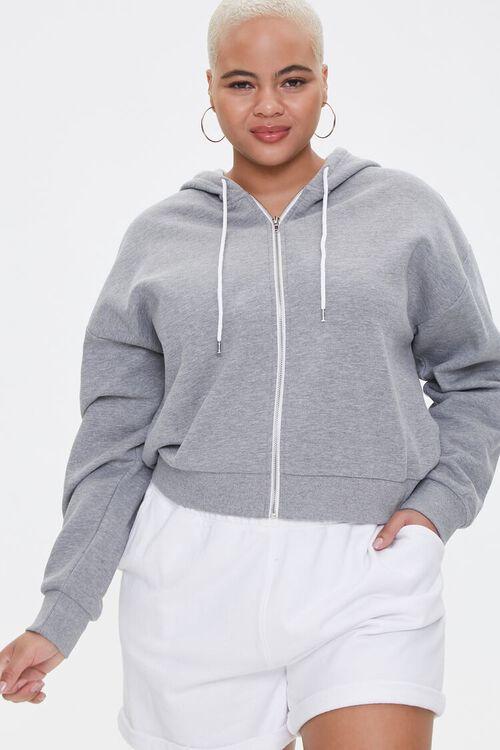 Plus Size Fleece Zip-Up Hoodie, image 5