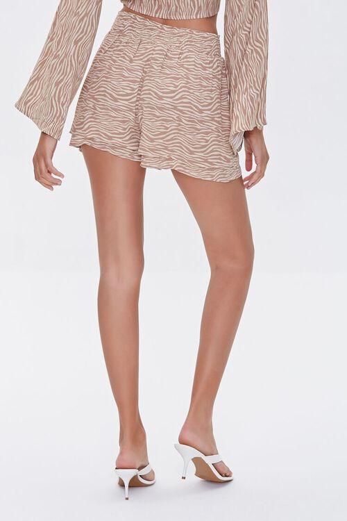 TAUPE/CREAM Tiger Print Layered Shorts, image 4