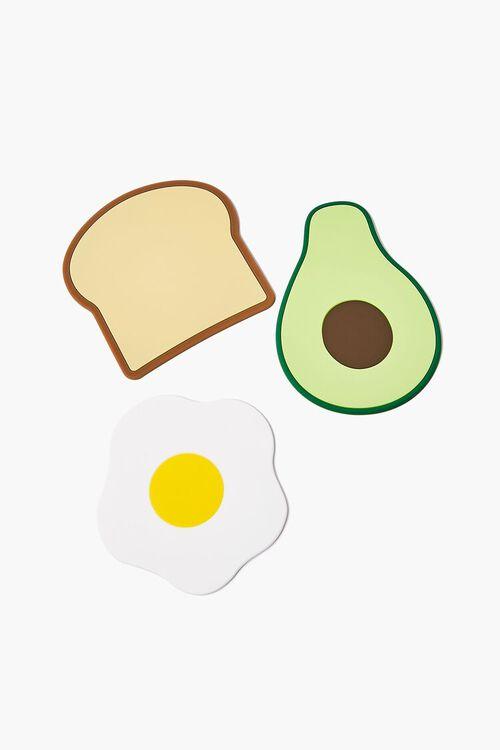 BROWN/MULTI Avocado Toast Coasters, image 1