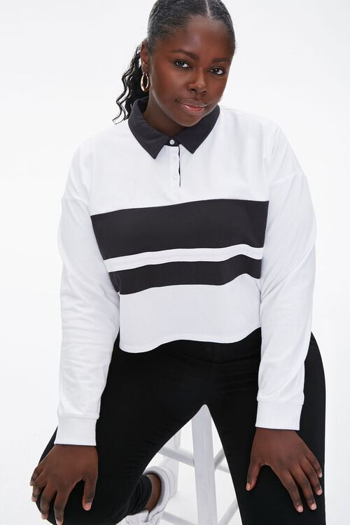 Plus Size Colorblock Rugby Tee, image 1