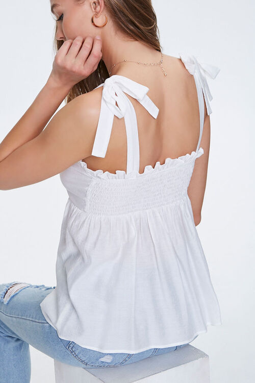 Ruffled Self-Tie Buttoned Top, image 5