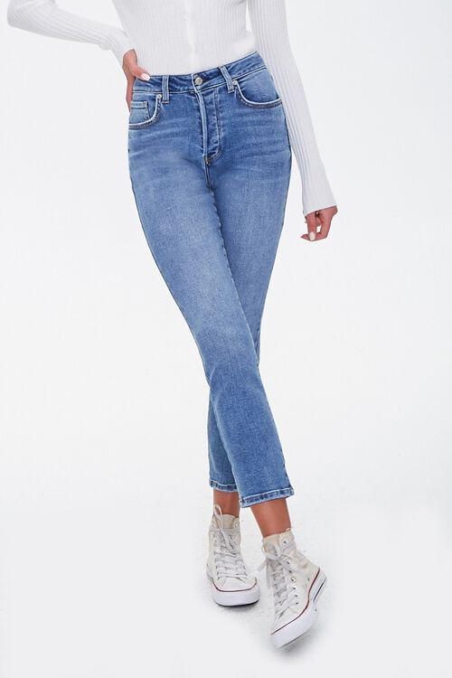 Button-Fly Mom Jeans, image 2