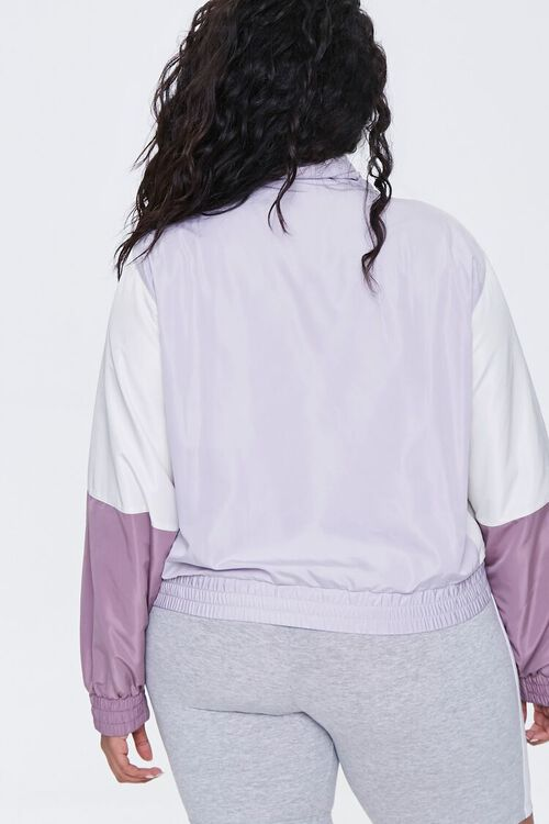 Plus Size Colorblock Windbreaker, image 3
