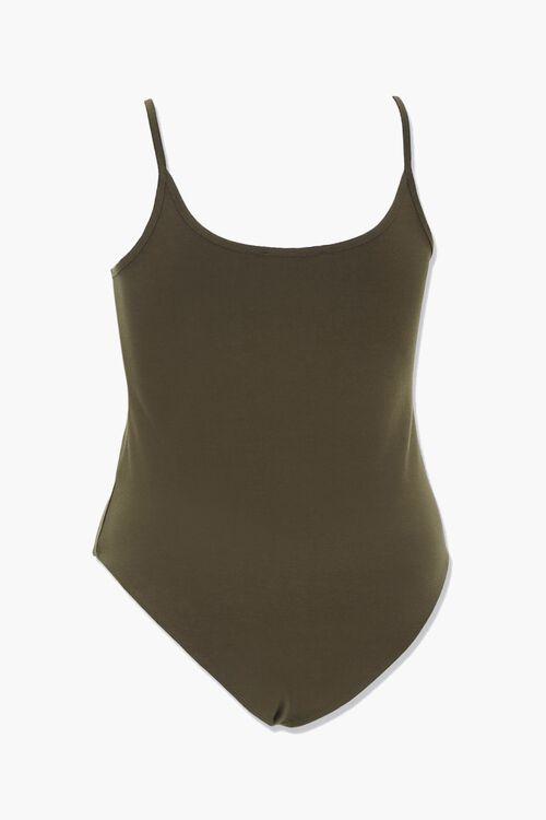 Plus Size Scoop Neck Cami Bodysuit, image 2