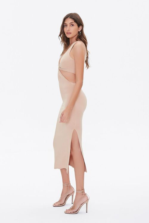 Cutout O-Ring Side-Slit Dress, image 3