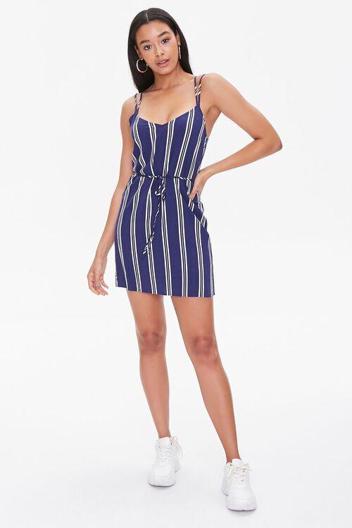 Striped Dual-Strap Cami Dress, image 4