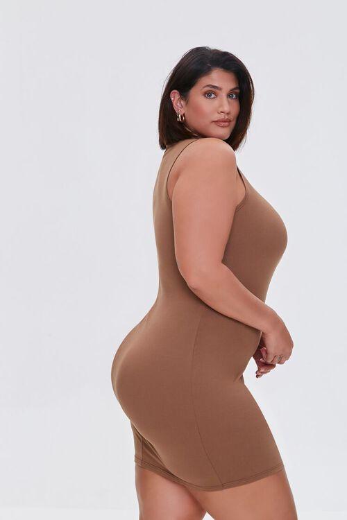 MOCHA Plus Size Mini Sleeveless Dress, image 2