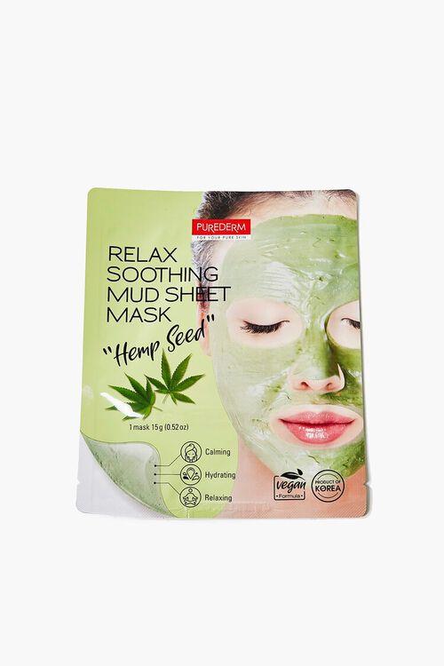 GREEN Hemp Seed Mud Sheet Face Mask, image 1