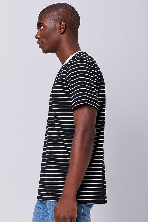 Striped Print Crew Neck Tee, image 2