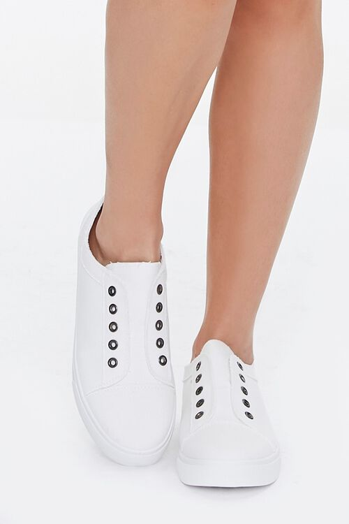 Low-Top Canvas Sneakers, image 4