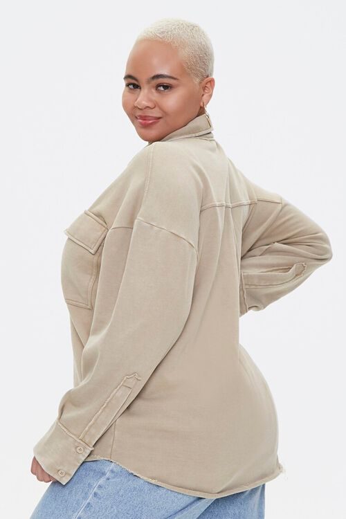 Plus Size Chest-Pocket Jacket, image 2
