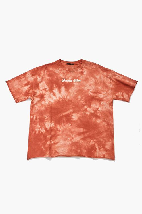 RUST/MULTI Dump Him Graphic Tie-Dye Tee, image 1