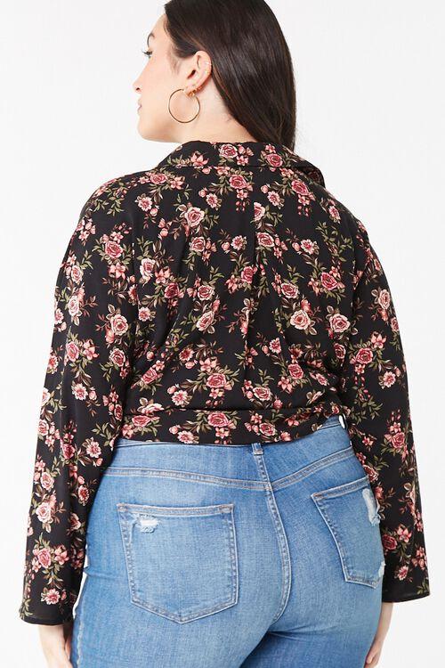 Plus Size Floral Tie-Front Top, image 3