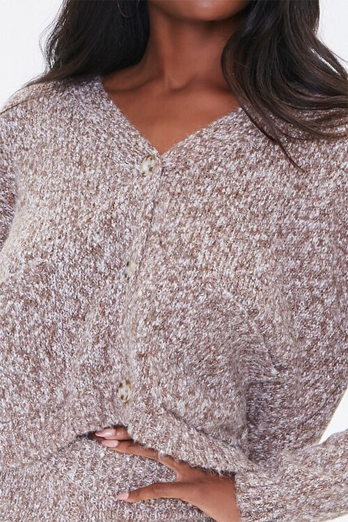 Marled Button-Front Cardigan, image 5