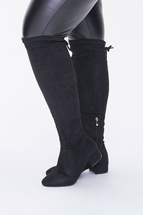 Faux Suede Knee Boots (Wide), image 1