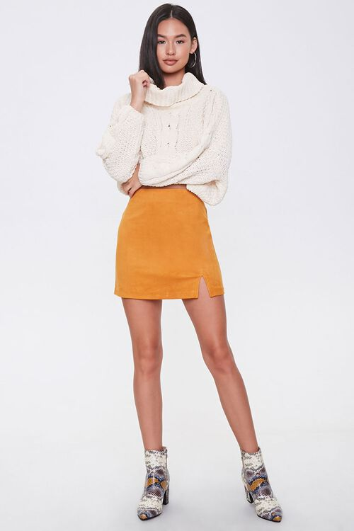 Faux Suede Mini Skirt, image 5