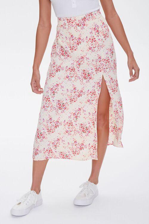 Floral Print Midi Skirt, image 2