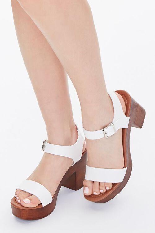 Faux Wooden Block Heels, image 1
