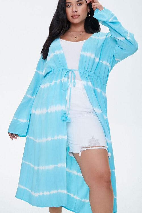 Plus Size Tie-Dye Kimono, image 1