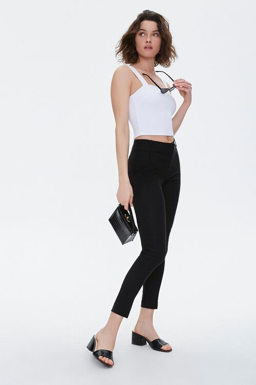 Stretch-Woven Skinny Pants, image 1