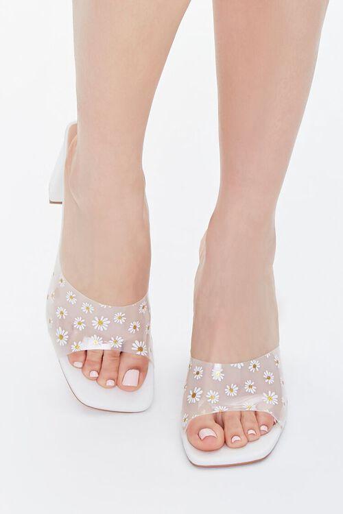 Daisy Print Block Heels, image 4