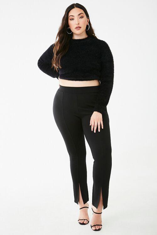 Plus Size Split-Hem Leggings, image 5