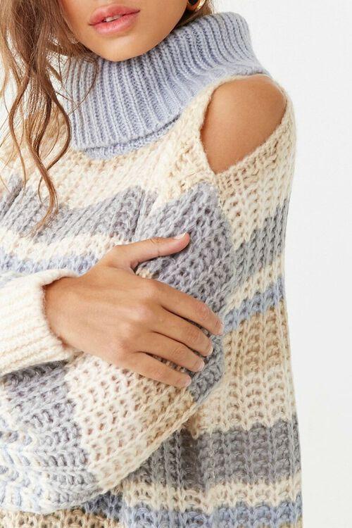 Striped Knit Turtleneck Sweater, image 5