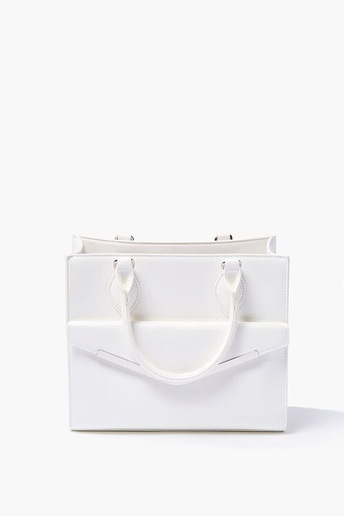 Structured Faux Leather Satchel, image 1