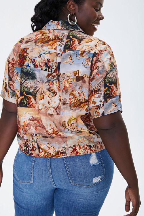 Plus Size Renaissance Art Print Shirt, image 3