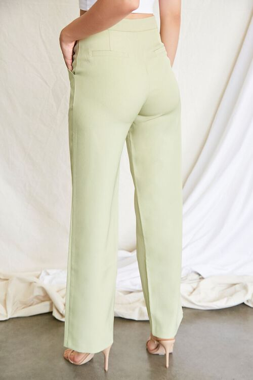 GREEN Buttoned Wide-Leg Pants, image 4