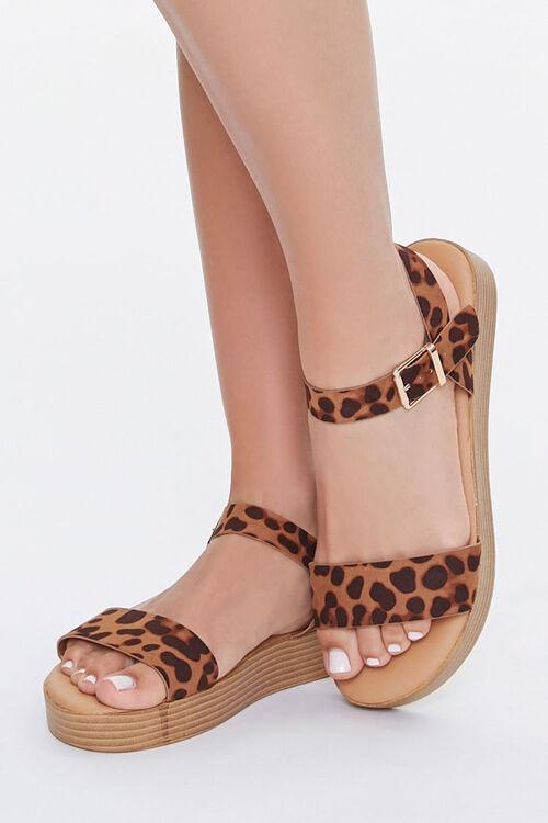 Cheetah Print Stacked Sandals, image 1