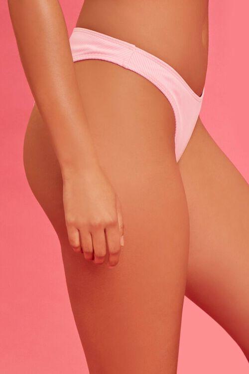 PINK Ribbed Juicy Couture Bikini Bottoms, image 3