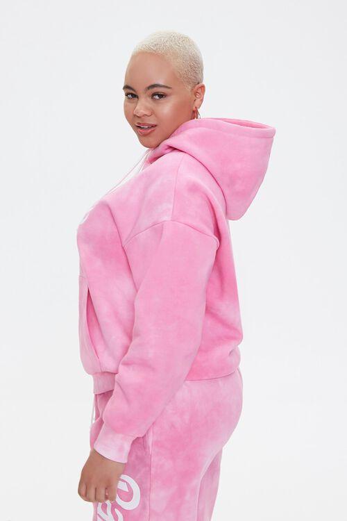 PINK/MULTI Plus Size Tie-Dye Barbie™ Hoodie, image 3
