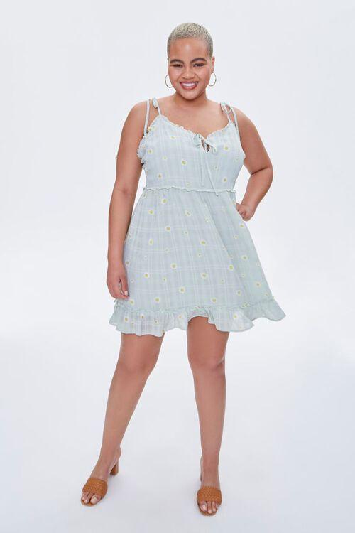 Plus Size Floral Mini Dress, image 4