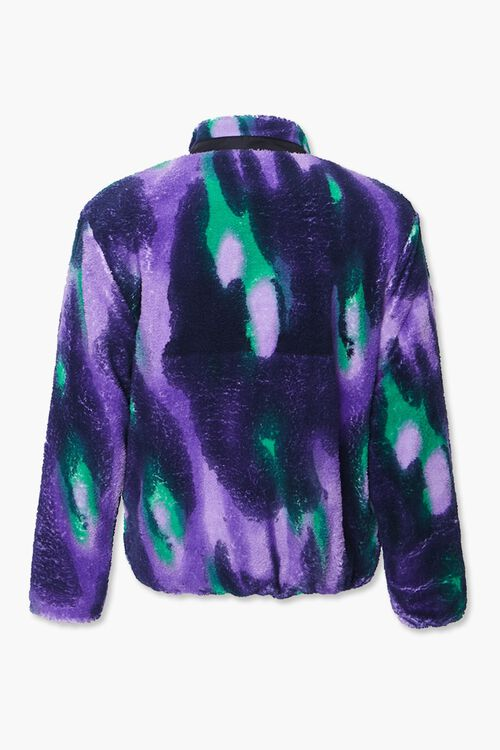 Watercolor Fleece Zip-Up Jacket, image 3