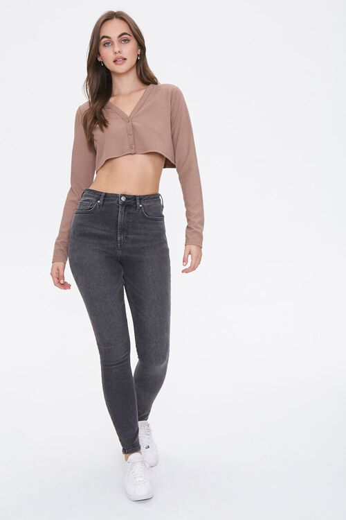 Button-Front Crop Top, image 4
