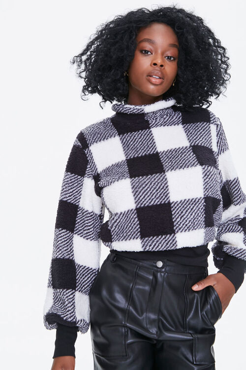 Buffalo Plaid Turtleneck Sweater, image 1