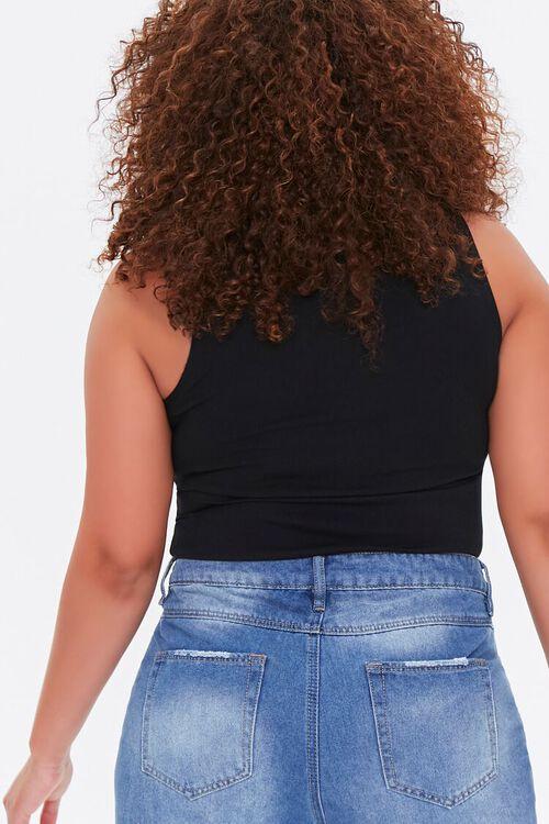Plus Size Sleeveless Ponte Knit Bodysuit, image 3