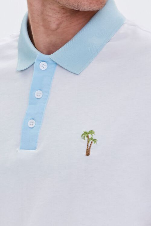 Palm Tree Embroidered Graphic Polo, image 6