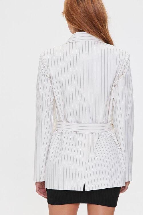 Belted Pinstripe Blazer, image 4