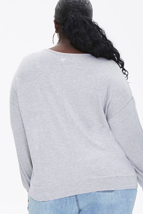 Plus Size Active Heathered Top, image 3