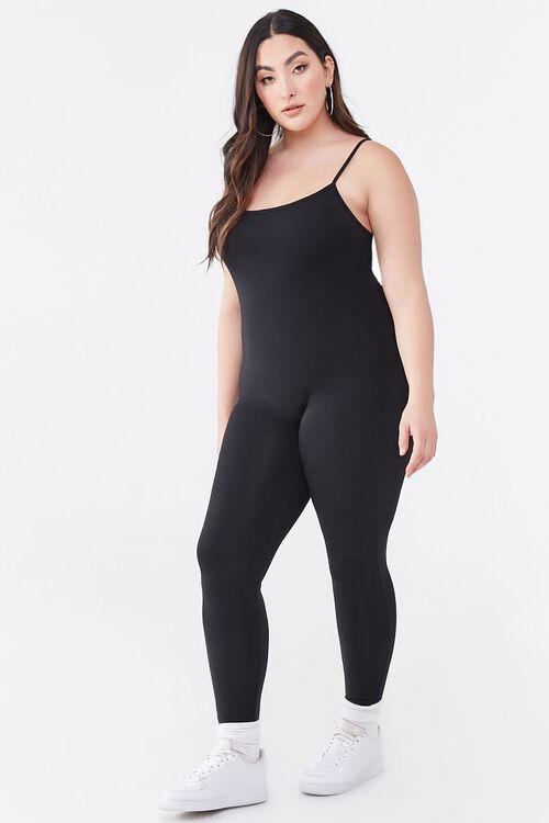 Plus Size Cami Scoop Jumpsuit, image 4