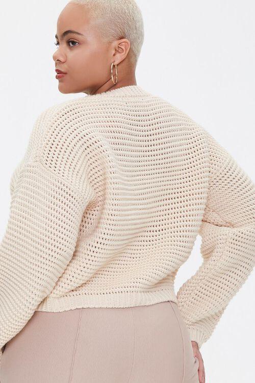 Plus Size Boxy Open-Knit Sweater, image 3