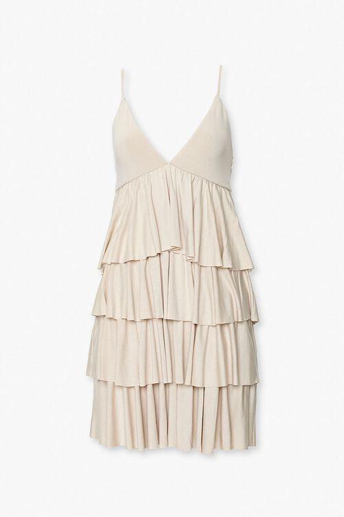 Tiered Flounce Mini Dress, image 1