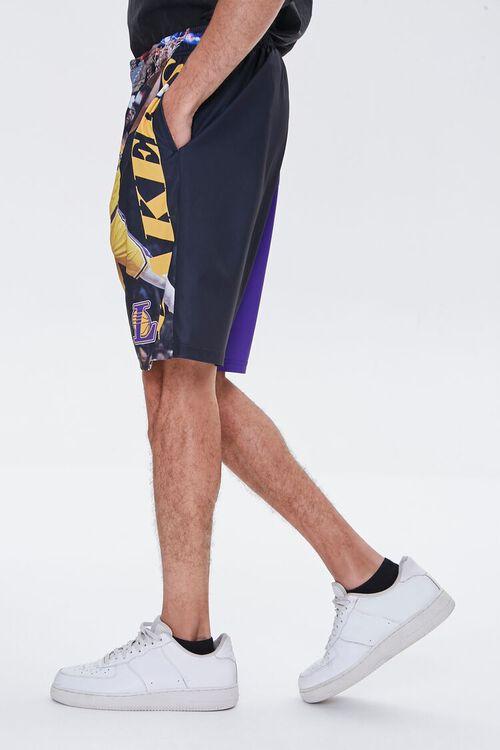 PURPLE/YELLOW LA Lakers Graphic Shorts, image 3